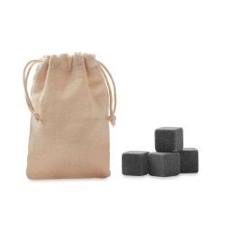 Cube en pierre dans pochette