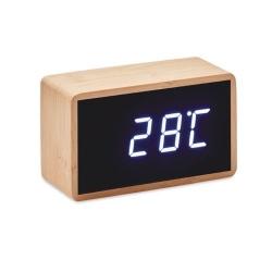 Réveil LED boîtier en bambou