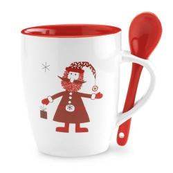 Mug avec petite cuillère