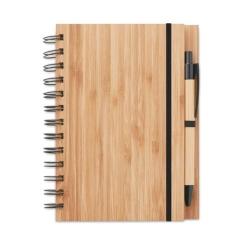 Carnet et stylo en bambou