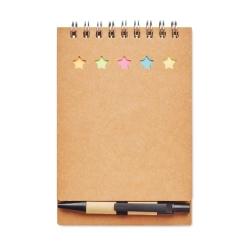 Carnet avec stylo et feuillets