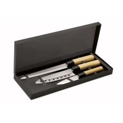 Set 3 couteaux style japonais