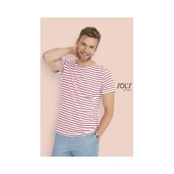 TEE-SHIRT HOMME COL ROND RAYÉ MILES MEN
